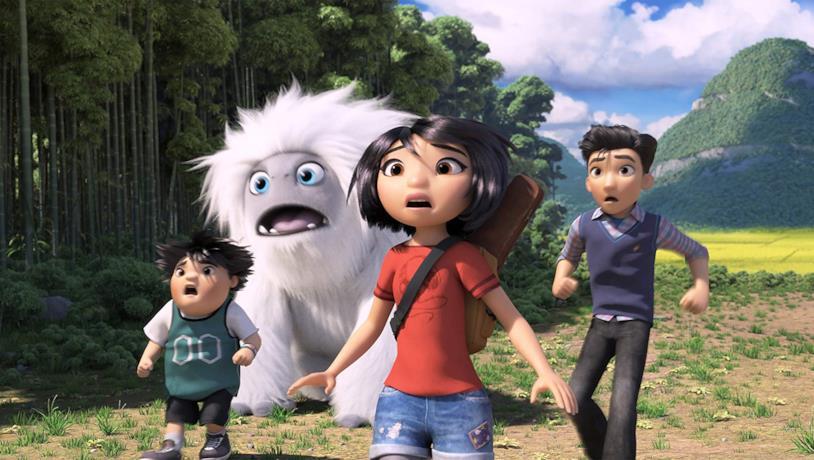 I quattro protagonisti del film d'animazione Il piccolo Yeti
