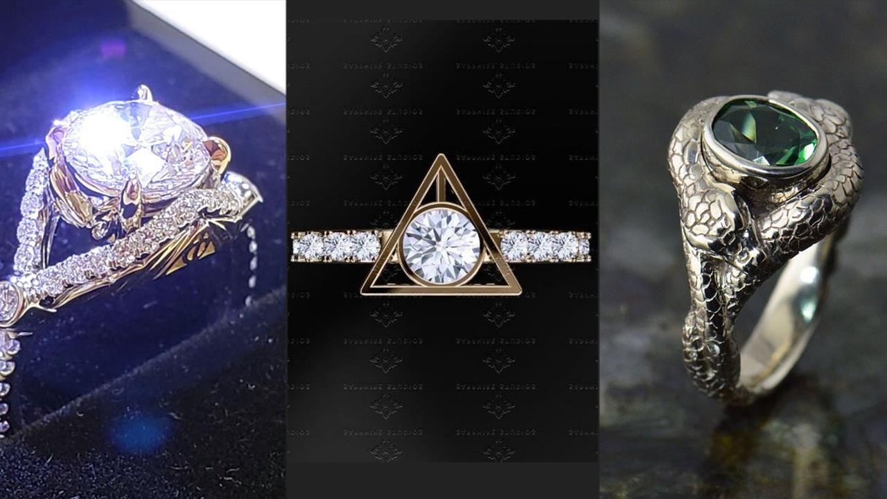 Gli anelli di fidanzamento di Harry Potter sono magnifici