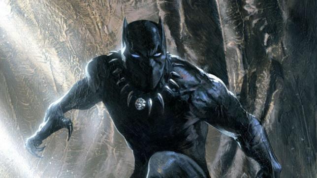 Primo piando di Black Panther in uno dei poster promozionali del film