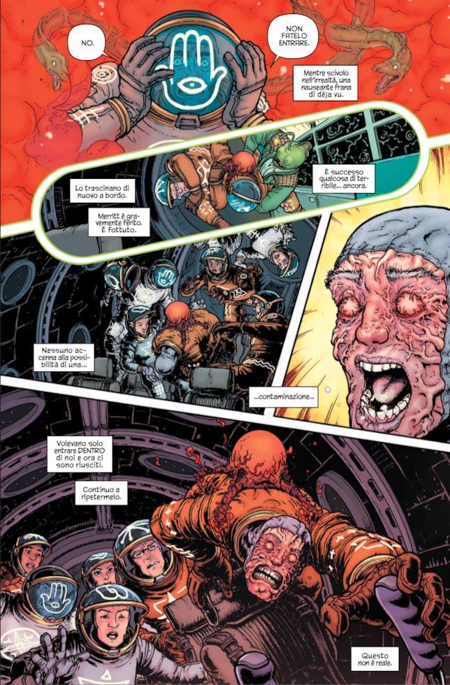 Tavola di Nameless, nello spazio