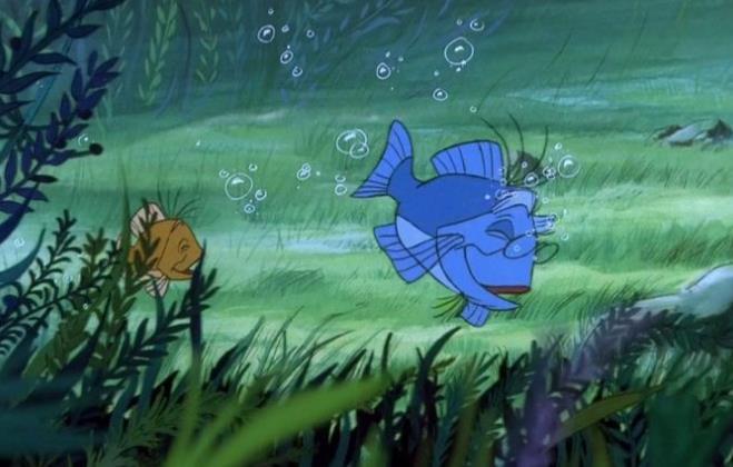 Merlino e Artù tramutati in pesci