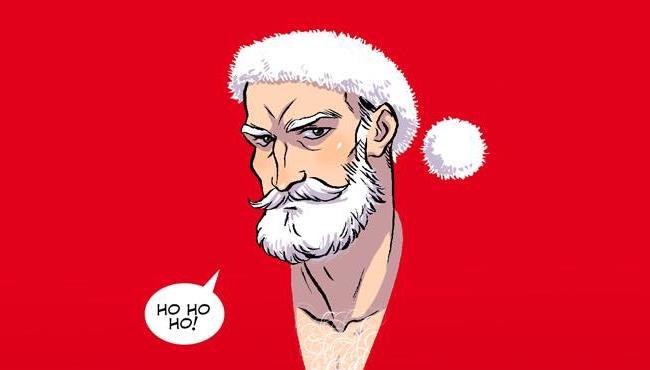 Babbo Natale in un disegno di Giulio Macaione