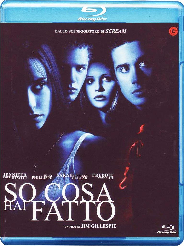 La cover del Blu-ray del film So cosa hai fatto, con i quattro protagonisti