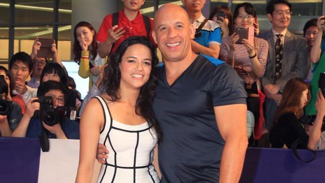 Michelle Rodriguez e Vin Diesel insieme sul red carpet
