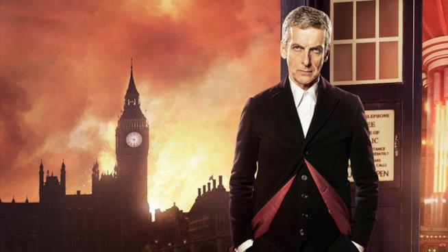 Peter Capaldi nei panni del Dottore nella famosa serie britannica Doctor Who