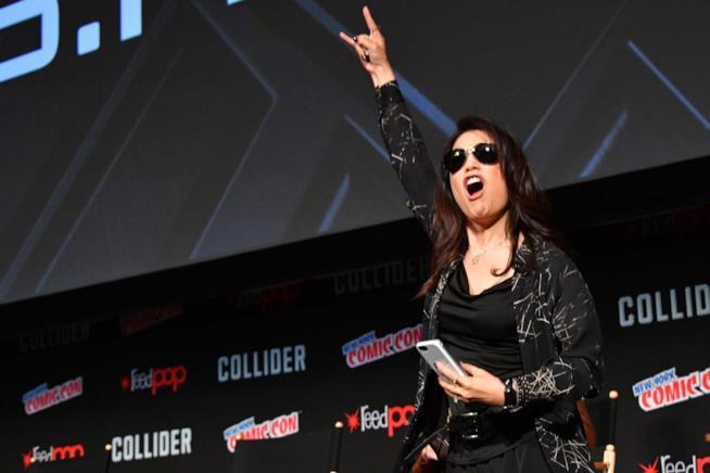 Una scatenata Ming-Na Wen al Comic Con di New York