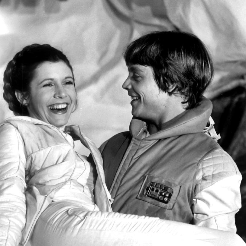 Carrie Fisher e Mark Hamill dietro le quinte di Star Wars