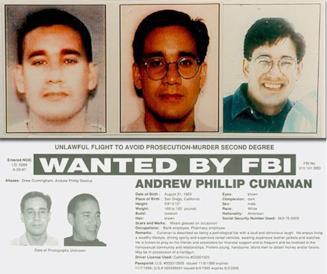 La taglia su Andrew Cunanan messa dall'FBI