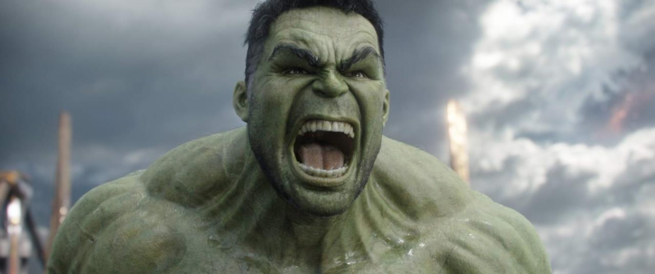 Primissimo piano di Hulk prima di scatenare la sua rabbia