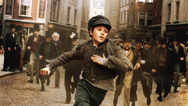 Oliver Twist scappa verso la libertà