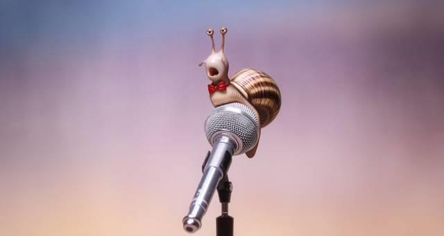 Una lumaca alle audizioni di Sing