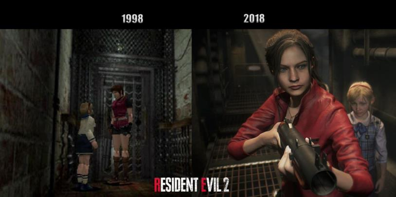 Claire Redfield e Sherry Birkin in Resident Evil 2 Remake