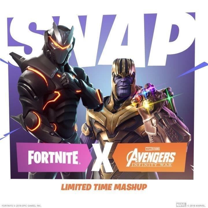 Thanos e il Guanto dell'Infinito arrivano in Fortnite