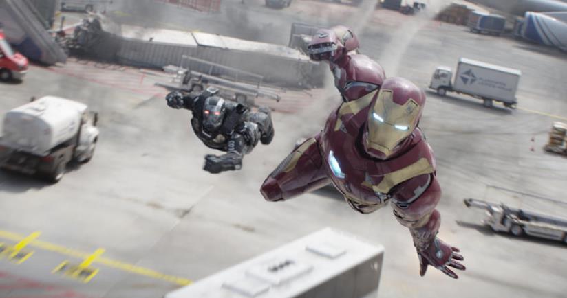 Iron Man e War Machine impegnati nel conflitto