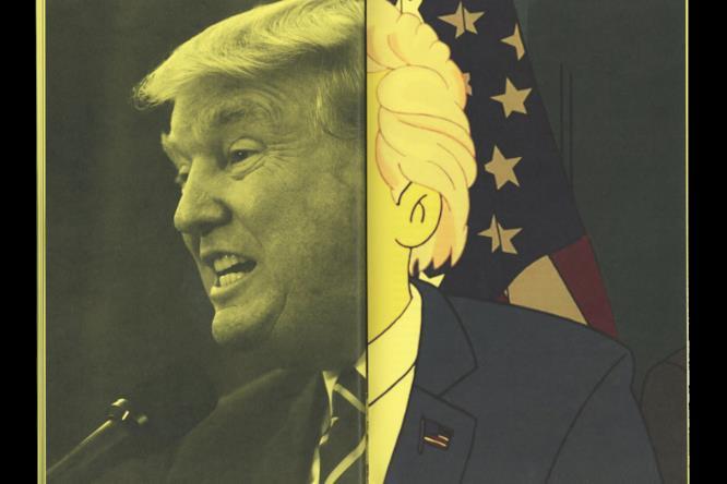 Donald Trump in versione Simpsonizzata