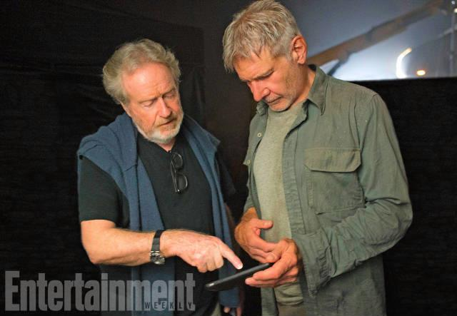 Ridley Scott spiega una scena ad Harrison Ford