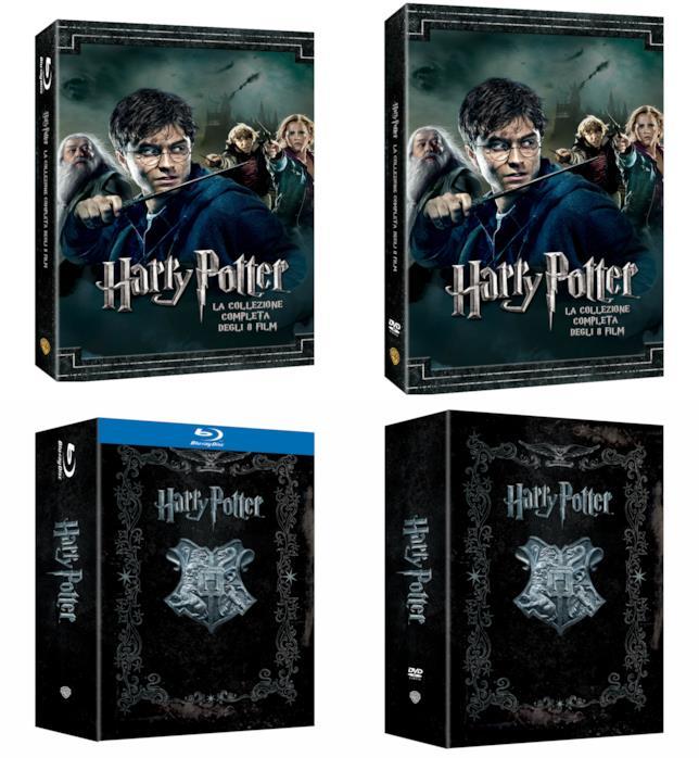 I cofanetti di Harry Potter in DVD e Blu-ray