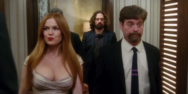 Un'immagine de Le Spie della Porta Accanto, commedia con Zach Galifianakis e Isla Fisher