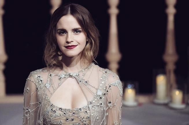 Emma Watson alla première di Shangai de La Bella e la Bestia