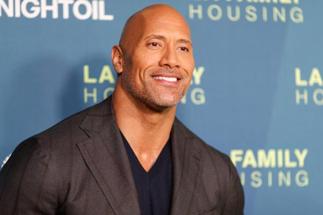 Primo piano di Dwayne 'The Rock' Johnson