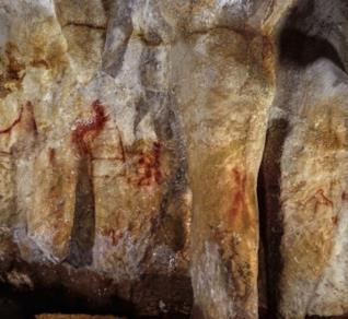 Alcune figure realizzate dai Neanderthal nella grotta di La Pasiega
