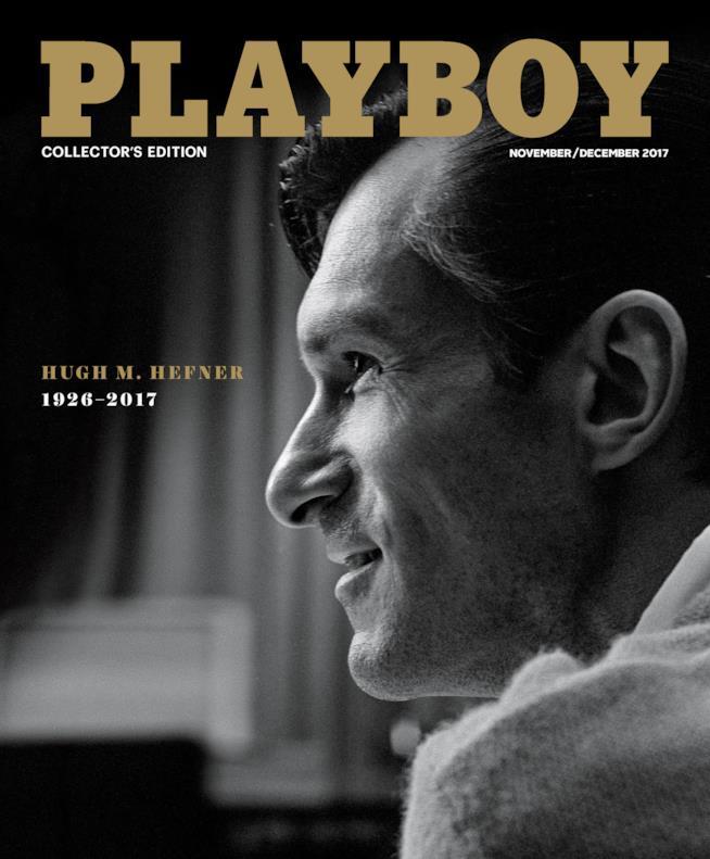 Hugh Hefner in copertina sul numero di novembre