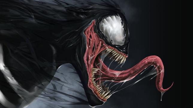 Un'illustrazione del malvagio Venom nemico di Spider-Man