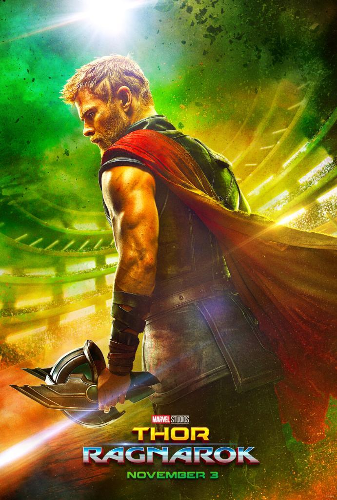Thor in versione gladiatore nel poster di Thor: Ragnarok