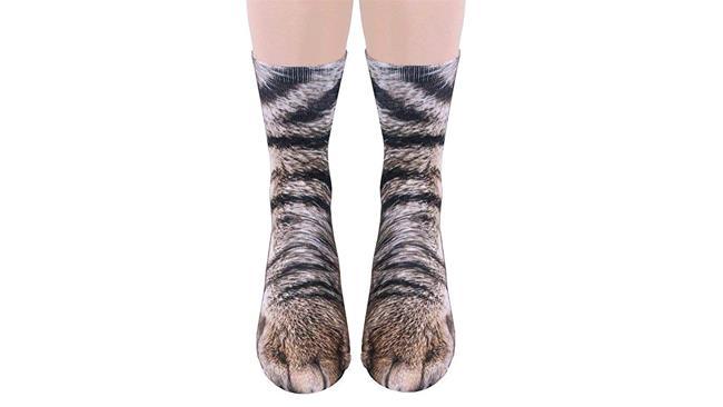 Calze con le zampe di gatto