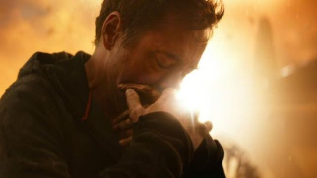 Robert Downey Jr. in una scena chiave di Inifnity War