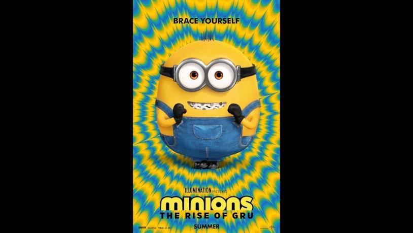 Un piccolo minion felice nel poster del secondo film