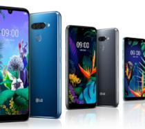 Immagine stampa dei nuovi LG Q60, K50 e K40