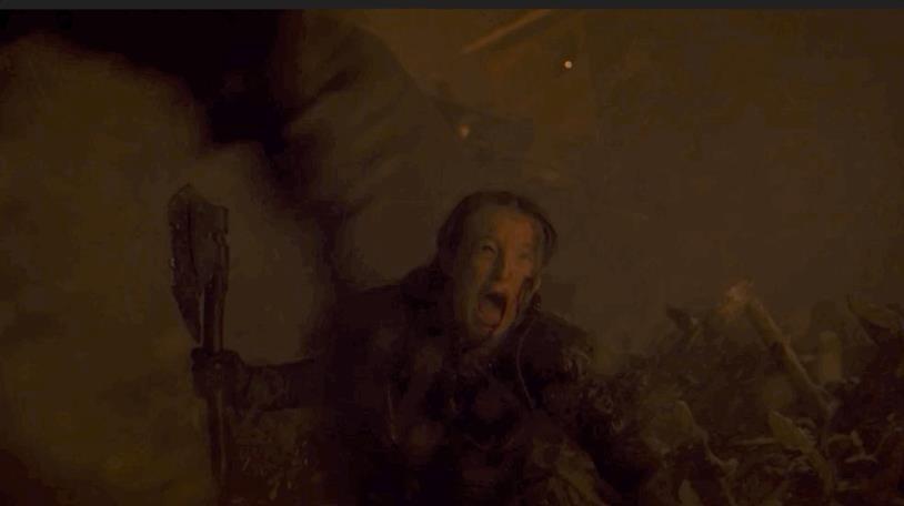 Lyanna Mormont in una GIF della sua morte