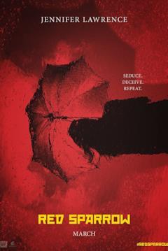 Una locandina promozionale del film Red Sparrow