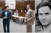 Collage tra Parsons ed Efron sul set e Ted Bundy
