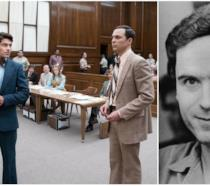 Collage tra Parsons ed Efron sul set e Ted Bundy
