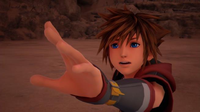 Sora in uno screenshot di Kingdom Hearts III