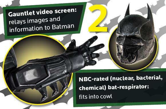 Il monitor e il bat-respiratore della tuta di Batman da Guinness