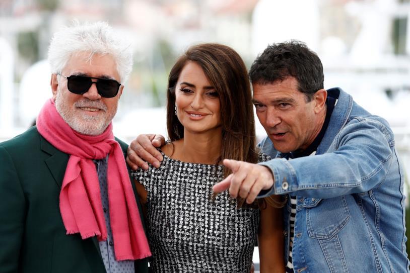 Pedro Almodóvar, Penélope Cruz e Antonio Banderas a Cannes 2019