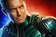 Jude Law nel character poster di Captain Marvel