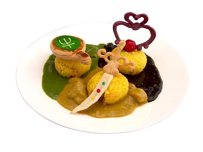 Ristorante The Moon, i piatti del menù: riso ispirato a Sailor Moon.