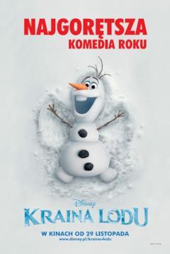 Olaf angelo della neve nel teaser poster russo di Frozen
