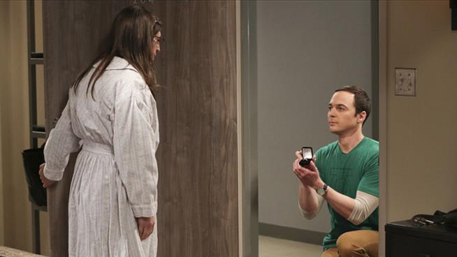 Il momento in cui Sheldon ha chiesto ad Amy di sposarlo