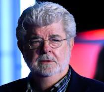 George Lucas alla prima de Il Risveglio della Forza