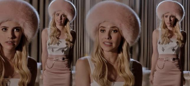 Il colbacco rosa di Chanel in Scream Queens