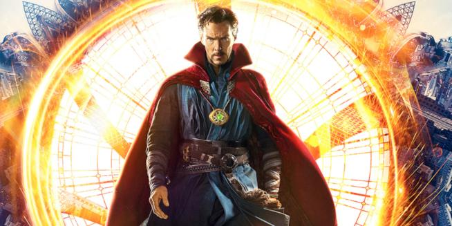 Benedict Cumberbatch nei panni di Doctor Strange