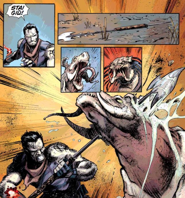 Tavola di Fire and Stone 4 con Galgo e il Predator a caccia