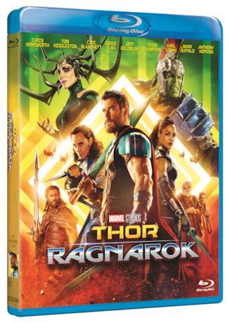 La cover dell'edizione Blu-ray di Thor: Ragnarok