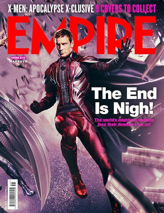 Magneto copertina di Empire Magazine