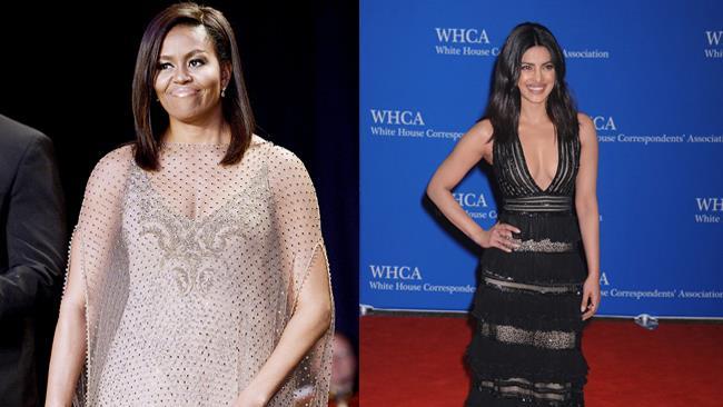 Michelle Obama e Priyanka Chopra alla Cena dei Corrispondenti 2016